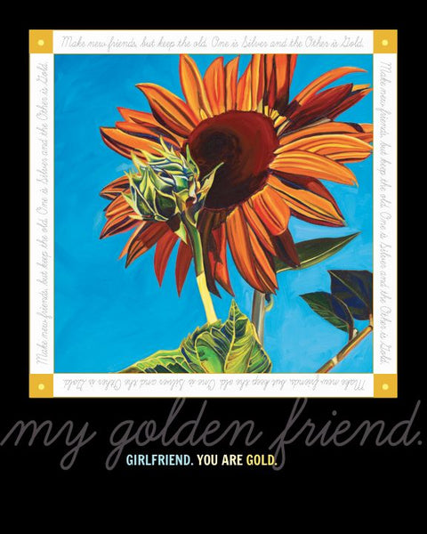 """Girlfriend You are My Golden Friend"" 8 x 10 Paper Art Print"