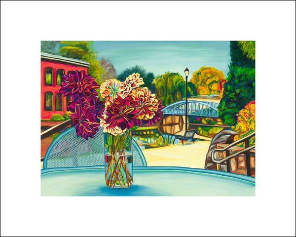 """Greenville Bouquet"" Large Paper Art Print"