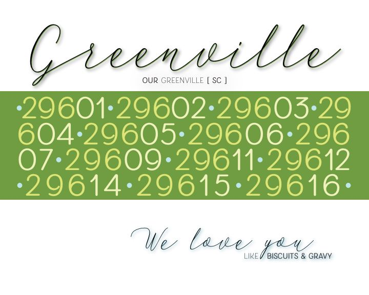 """Greenville We Love You"" 8 x 10 Paper Art Print"