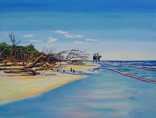 """Hunting Island"" {LANDSCAPE OIL PAINTING}"