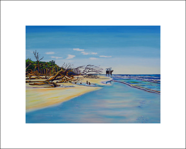 """Hunting Island"" Large Paper Art Print"