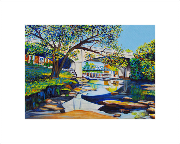 """Main St. Bridge"" Large Paper Art Print"