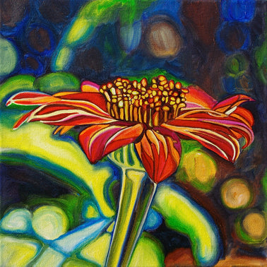 """Mexican Sunflower"" Medium Matted Print"