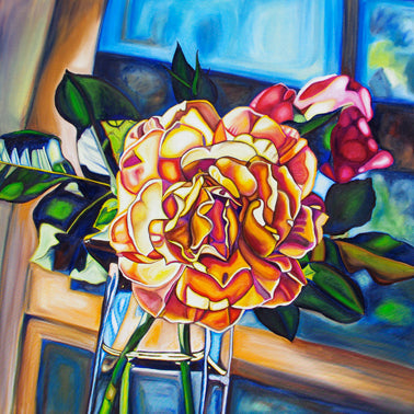 """Mrs. Horton's Roses"" Medium Matted Print"