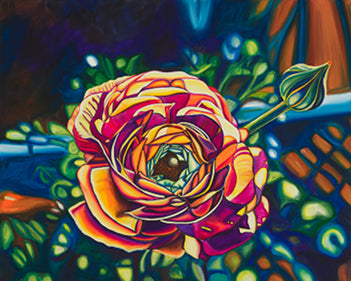 """Ranunculus"" Medium Matted Print"