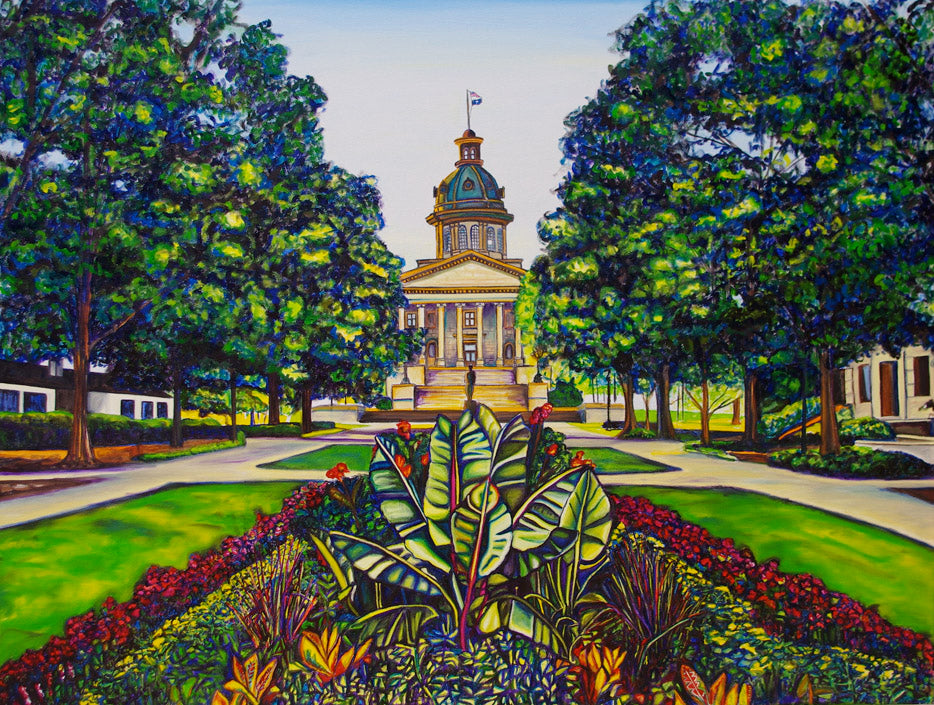 """SC State House"" {LANDSCAPE OIL PAINTING}"