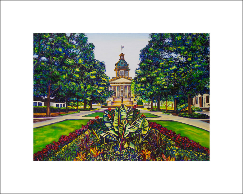 """SC State House"" Large Paper Art Print"