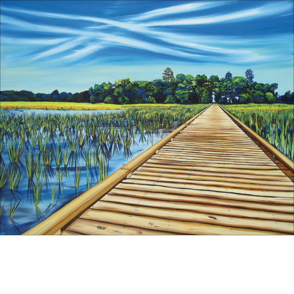 """Salt Marsh Path"" Large Paper Art Print"