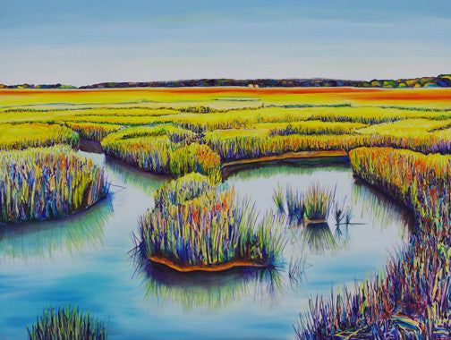 """Salt Marsh Peace"" {ORIGINAL OIL PAINTING}"