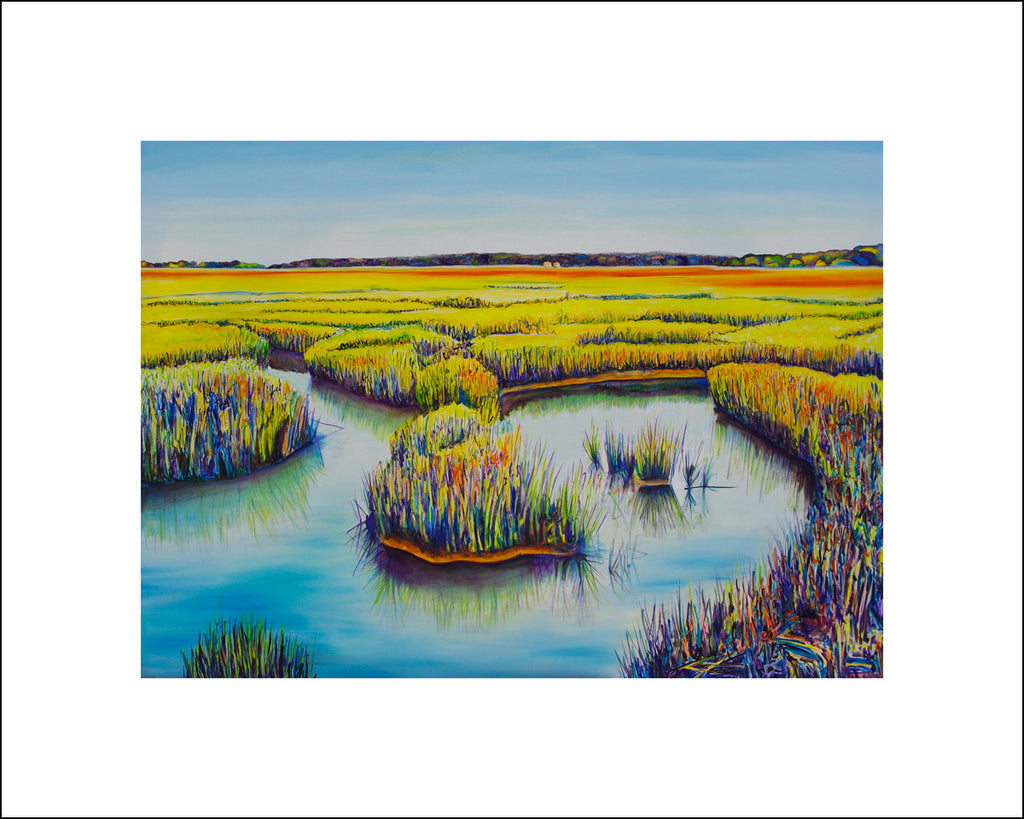 """Salt Marsh Peace"" Large Paper Art Print"