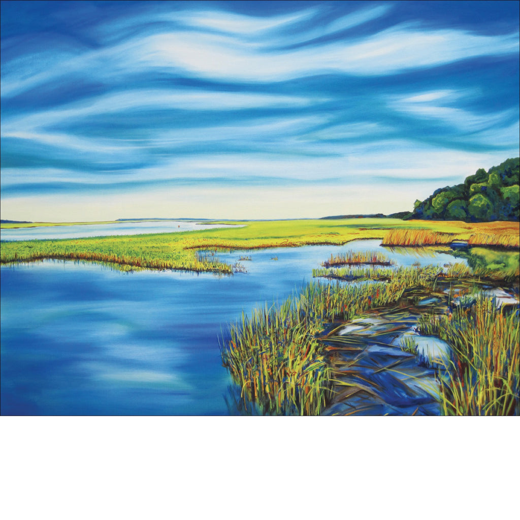 """Salt Marsh"" Large Paper Art Print"