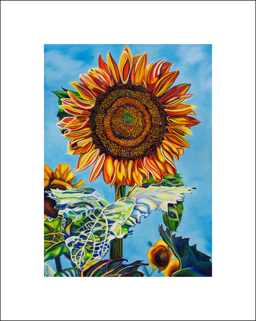 """Sunflower Flame"" Large Paper Art Print"