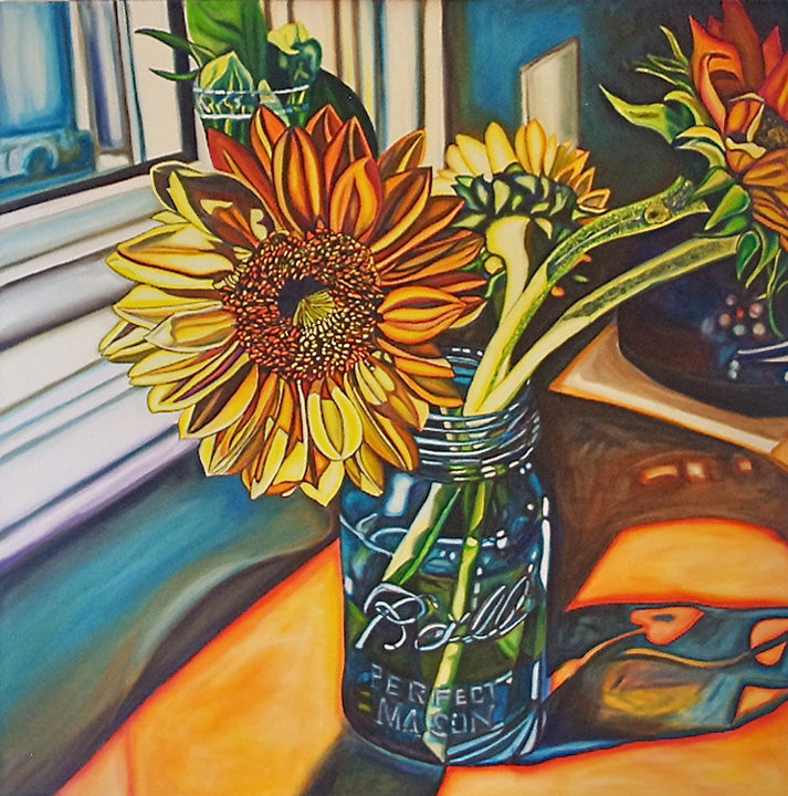 """Sunflower Bouquet"" {FLORAL OIL PAINTING}"