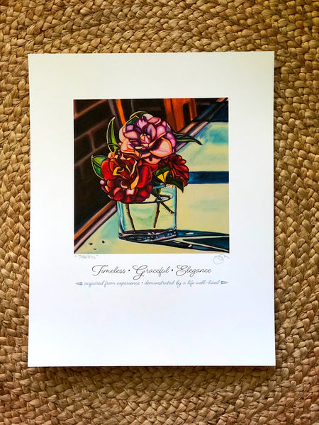 """TIMELESS, GRACEFUL ELEGANCE"" -- 11"" x 14"" Signed & Titled PAPER ART MESSAGE"
