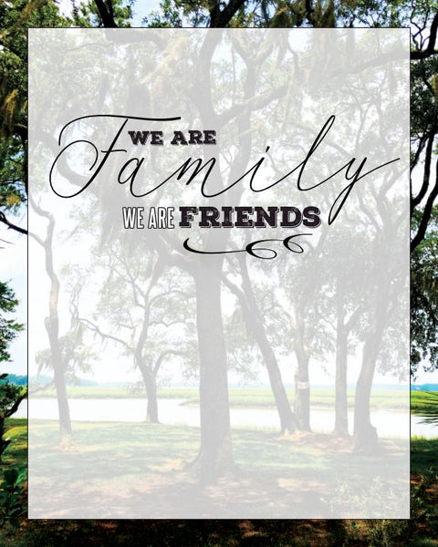 """We Are Family"" 8 x 10 Paper Art Print"