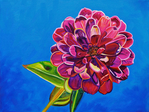 """Zinnia"" Medium Matted Print"