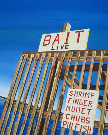 """Bait Stand"" {ORIGINAL OIL PAINTING}"
