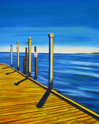 """Boat Dock"" {LANDSCAPE OIL PAINTING}"