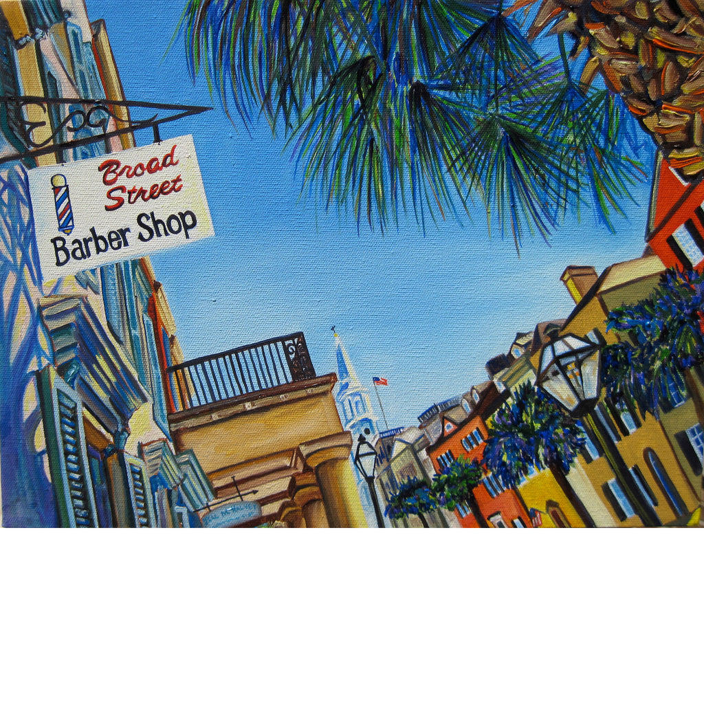 """Broad St. Barber"" 16 x 12 Paper Art Print"