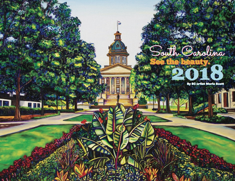 2018 SOUTH CAROLINA Wall Calendar