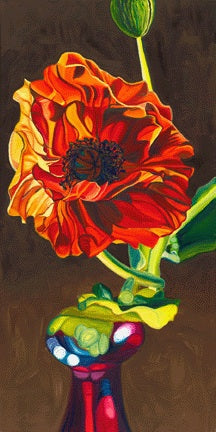 """Poppy"" Large Matted Print"