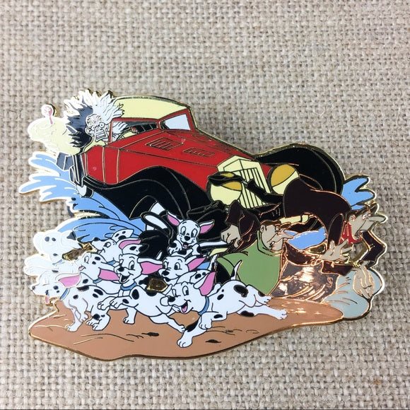 Disney Cruella 101 Dalmatians Jumbo Pin The Stand Alone