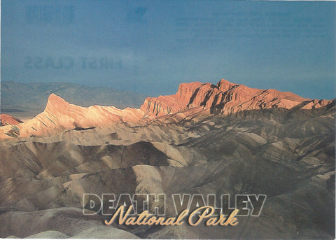 5X7 Death Valley Mountains Postcard