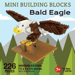 Mini Building Block Bald Eagle