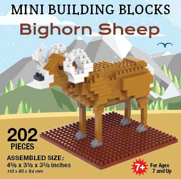 Mini Building Block Bighorn Sheep