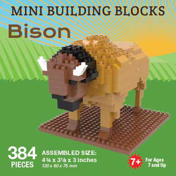 Mini Building Block Bison
