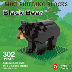 Mini Building Block Black Bear