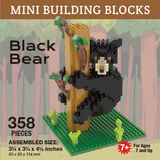 Mini Building Block Black Bear in Tree