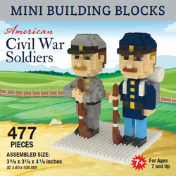 Mini Building Block Civil War Soldiers