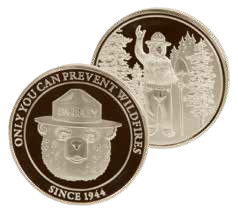 Smokey Bear Silver Coin
