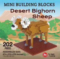 Mini Building Block Desert Bighorn Sheep