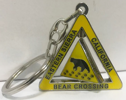 Bear Crossing Swivel Keychain