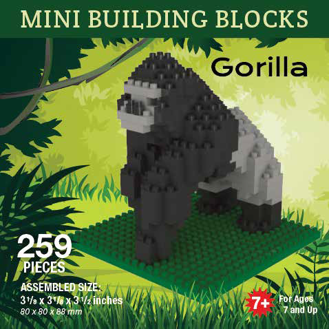 Mini Building Block Gorilla