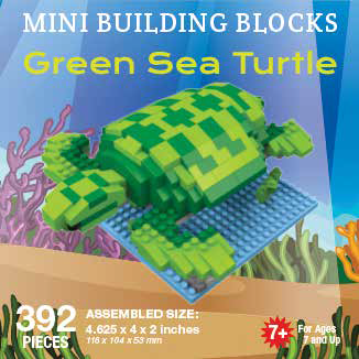 Mini Building Block Green Sea Turtle