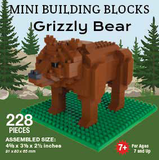 Mini Building Block Grizzly Bear