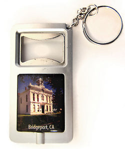 Bridgeport CA Bottle Opener Keychain