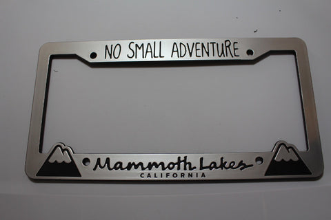 Mammoth Lakes License Plate Frame