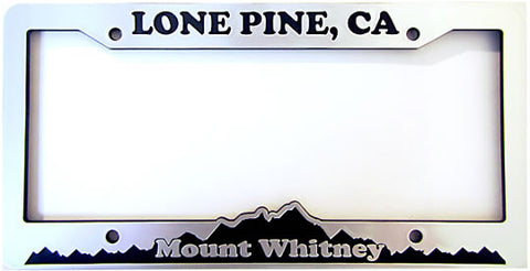 Mt. Whitney Lone Pine License Plate