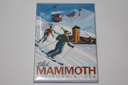 Mammoth Retro Skiing Magnet