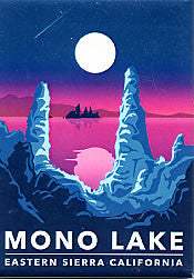 Mono Lake Retro Magnet