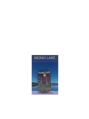 Mono Lake Retro Hiking Medallion