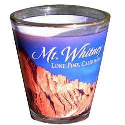 Mt. Whitney Shot Glass