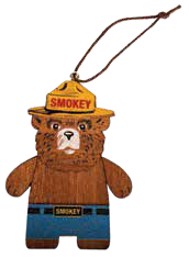 Smokey Block Ornament