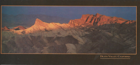 Panoramic Death Valley Sunset Postcard
