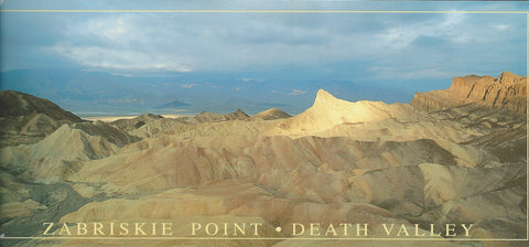 Panoramic Zabriskie Point Postcard