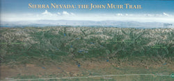 Panoramic JMT Trail Map Postcard